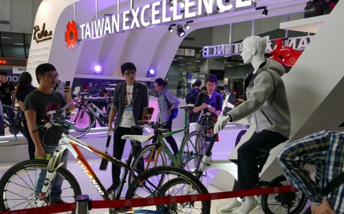 Traditionell auf der Taipei Cycle Show im Foyer: Der Taiwan Excellence Showcase.