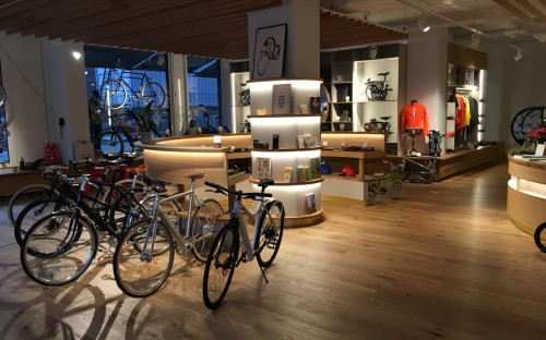 Elegant: Der neue Bicicli Cycling Concept Store.