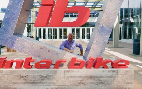 Interbike-Chef Justin Gottlieb vor dem Sparks Convention Center in Reno/Nevada.