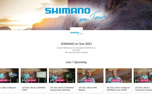 Shimano on Tour 2021: digital-only.