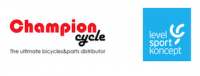 Champion Cycle und Level Sport Koncept Logos