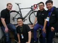 V.l.n.r. Memil-Gründer und -CEO Fredrik Strid, Product Manager Taiwan Ben Wu, Marketing Manager Travis Chang & Product Manager China Ryan