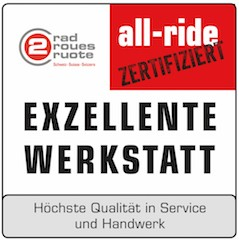 all-ride Qualitätssiegel.