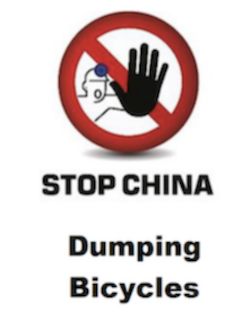 Stop China Dumping Bicycles.