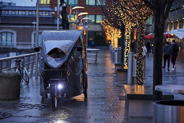 UPS E-Bike unterwegs in Dublin.